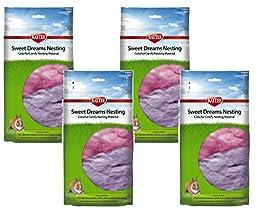 (4 Pack) Kaytee Sweet Dreams Nesting Material, 35 Grams Each, Multi Color