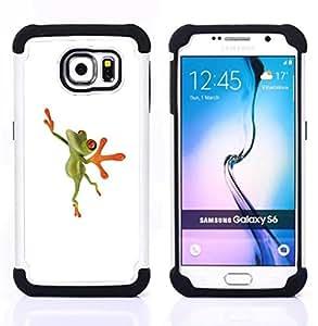 - ballerina dancer frog happy/ H??brido 3in1 Deluxe Impreso duro Soft Alto Impacto caja de la armadura Defender - SHIMIN CAO - For Samsung Galaxy S6 G9200