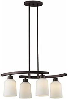 canarm quincy 4light chandelier oil rubbed bronze