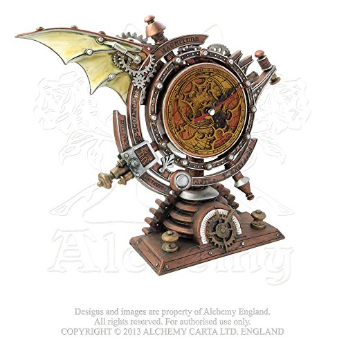 Home Décor Mantel Clock Steampunk Celestial Chronometer Mapping Passing of Eternal Time