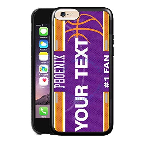 (BRGiftShop Customize Your Own Basketball Team Phoenix Rubber Phone Case for Apple iPhone 6 Plus & iPhone 6s Plus 5.5 Inches Screen)