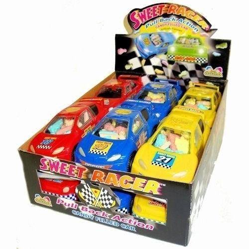 (Sweet Racer Pull Back Action Candy Filled Cars (1 Box, 12)