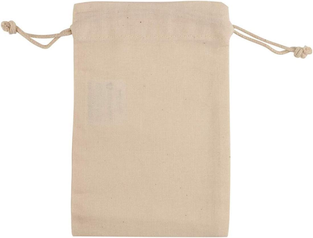 Cotton Double Drawstring Muslin Bags Premium Quality Cotton Bags 5x7 inches