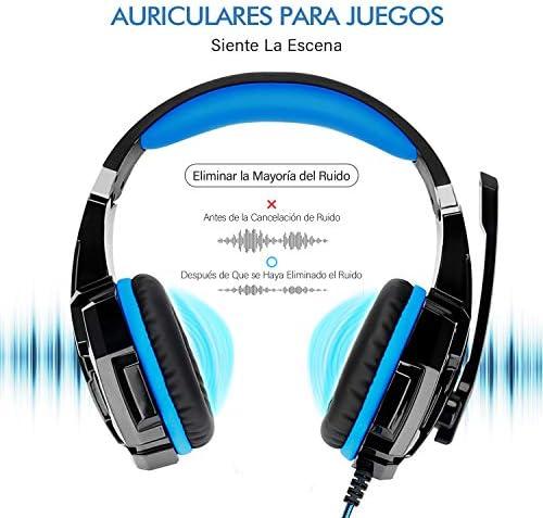 LonEasy Auriculares para Juegos, Auriculares para Juegos con Aislamiento de Ruido con Cable de,Control del Volumen audifonos Gaming. 6