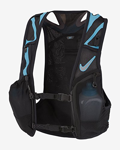 - Nike Trail Kiger Vest 3.0, Running, Hiking, Black/Blue (Medium)