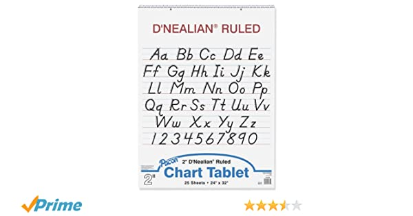 Amazon.com : D'Nealian Chart Tablet, 24