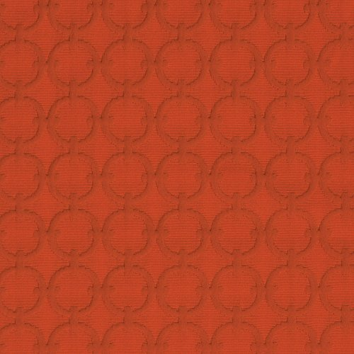 Tiger Lily Orange Lattice Embroidery Upholstery Fabric by The Yard (Lily Tiger Drapes)