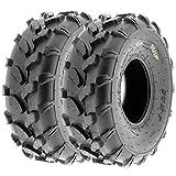 SunF 19x7-8 19x7x8 ATV UTV All Terrain Trail Replacement 6 PR Tubeless Tires A003, [Set of 2]