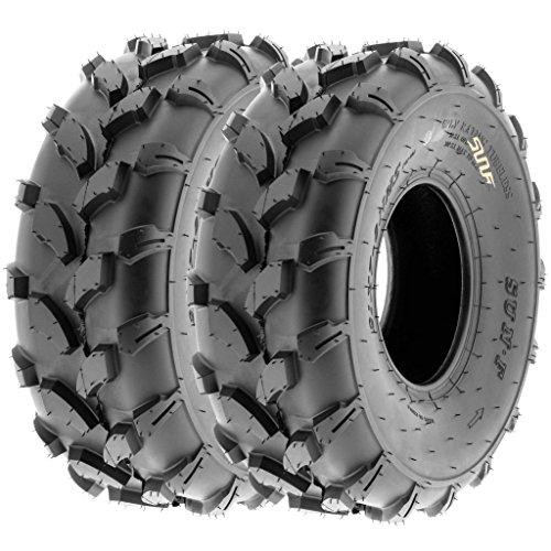 SunF 19x7-8 19x7x8 ATV UTV All Terrain Trail Replacement 6 PR Tubeless Tires A003, [Set of 2] by SunF