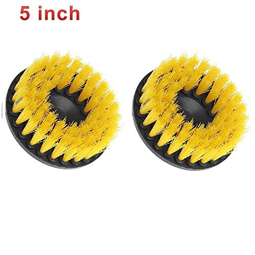- KingFurt 5 Inch Drill Brush, Medium Duty Power Scrubbing Brush Drill Attachment Scrubbing/Cleaning Tile, Grout, Shower, Bathtub all other General Purpose Scrubbing (2 Pack)