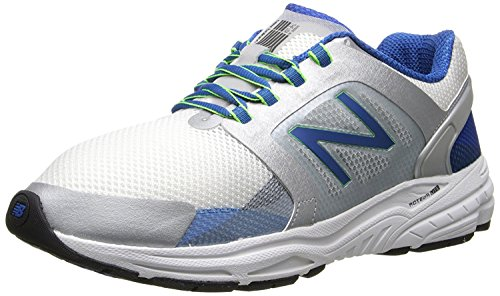 New Balance Mens M3040 Optimum Control Running Shoe, Plateado, azul, 44.5 EU/10 UK