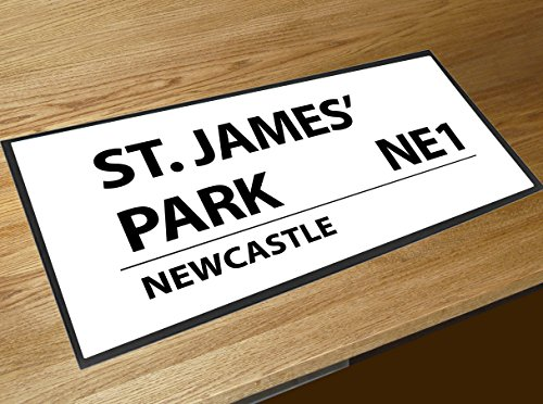 Artylicious St James' Park Newcastle United Street Sign bar Runner Counter mat (Newcastle Counter)