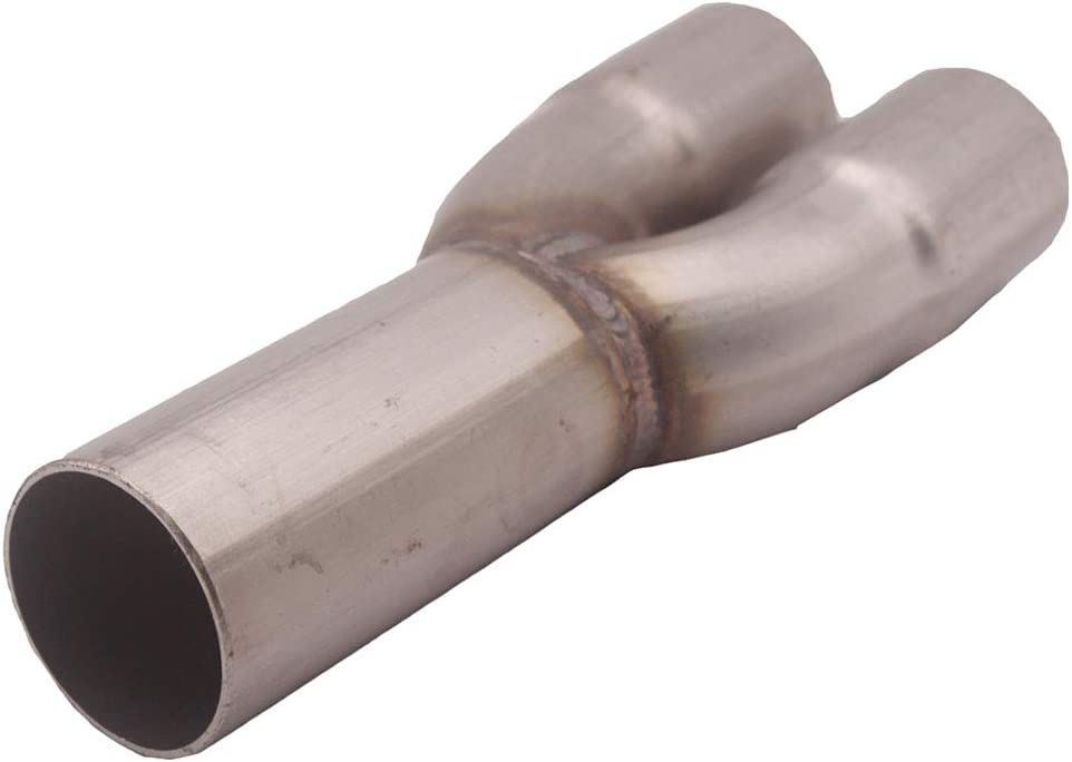 Dual 1.5 ID Inlet Single 1.75 OD Outlet Stainless Steel Exhaust Merge Collector Homyl Exhaust Merge Collector