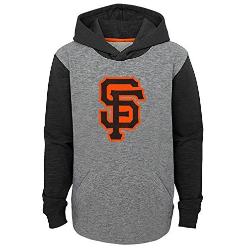 OuterStuff San Francisco Giants YOUTH BOYS New Beginnings Pullover Hooded Sweatshirt - Gray/Black (Youth Medium(10-12)) San Francisco Giants Hooded Pullover
