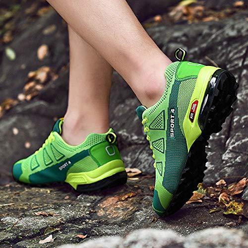 B De Impermeable Montaña Paseos Por Senderismo Malla Trekking Verde Hombres Viajes Botas Zapatos Cuero Para Zarlle Escalada pwBq4xaad