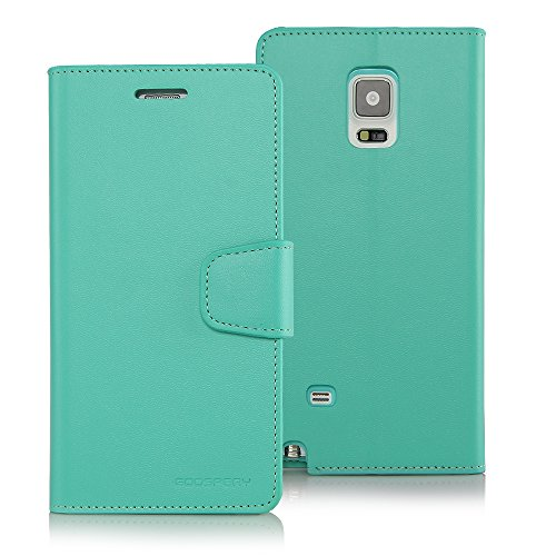 e, Goospery Sonata Diary [Samsung Note 4 Edge] Premium Soft Synthetic Leather [Wallet Type] Case Cover [ID Card Slots & Cash Compartment] (Mint) NT4E-SON-MNT ()