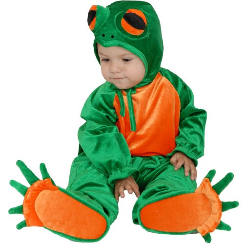 Charades Kid's Little Frog Baby Costume, as Shown, Infant ()