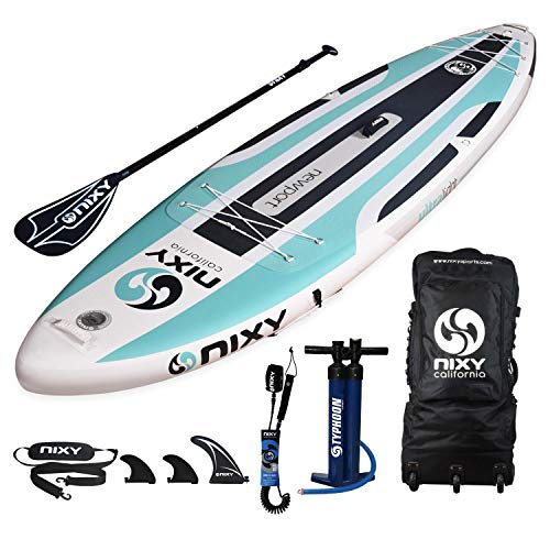 NIXY Newport SUP Inflatable Stand Up Paddle Board. All Around Lightweight iSUP Built with Dual Layer Fusion Dropstitch. All Accessories Included Paddle, Leash, Pump, Should Strap, Carry Bag