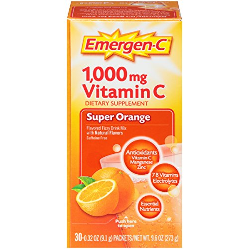 076314306466 - Emergen-C Dietary Supplement Drink Mix with 1000 mg Vitamin C, 0.32 Ounce Packets, Caffeine Free (Super Orange Flavor, 30 Count) carousel main 5