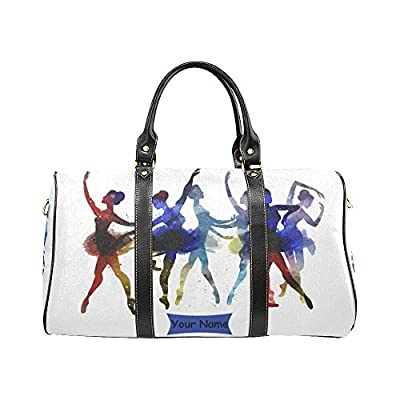 durable service Personalized Ballet Dancer Music Note Travel Duffle Bag  Weekend Bag with Strap 02125185b7