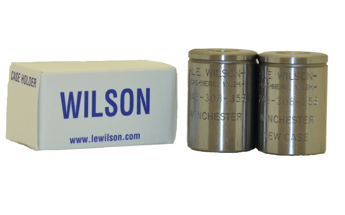 L.E. Wilson BCH-308WIN Case Holder for 243 Winchester/308 Trimmer, Fired & New Included, Polished Steel