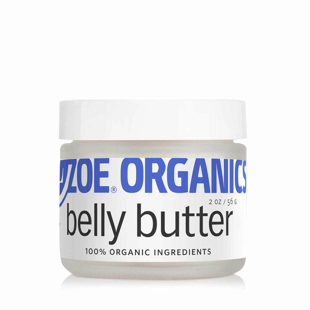 Zoe Organics - Organic Belly Butter, Rich Conditioning Treatment for Stretching Skin During Pregnancy, For Stretch Marks and Supports Skin Elasticity (2 oz)