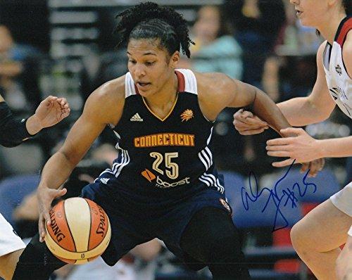(ALYSSA THOMAS signed (CONNECTICUT SUN) WNBA basketball 8X10 photo W/COA #2 - Autographed WNBA Photos)
