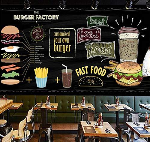 Warmlinan Custom Wallpaper 3D Mural Pintura de hamburguesa pintada ...