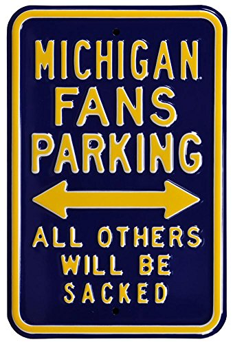 Michigan Sacked Parking Steel Sign Wall Sign 12 x 18in