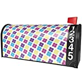 NEONBLOND Pattern Flower Power Purple Magnetic Mailbox Cover Custom Numbers