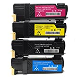 Compatible for Xerox Phaser 6500 High Yield Toner Cartridge Replacement for 6500, 6500/DN, 6500N and WorkCentre 6505 4 pack(Black Cyan Yellow Magenta)