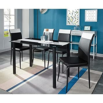 Generique Elvis Ensemble Table A Manger 4 Personnes 120x70 Cm 4