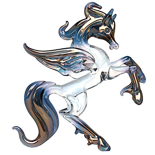 Prochaska Gallery Hand Blown Glass Pegasus Figurine