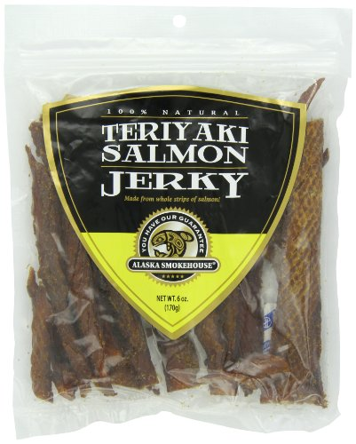 Alaska Smokehouse Salmon (Alaska Smokehouse Teriyaki Salmon Jerky, 6 -Ounce Bag)