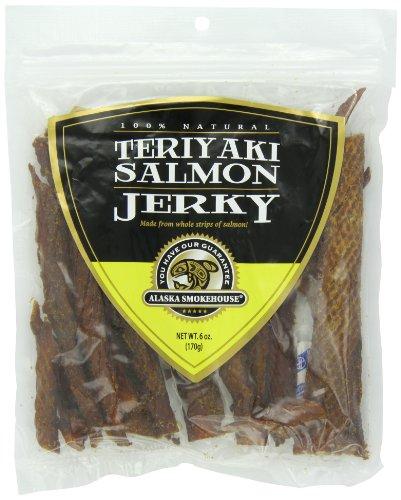 Alaska Smokehouse Teriyaki Salmon Jerky, 6 -Ounce Bag