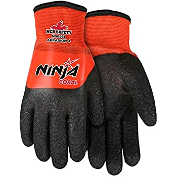 MCR Safety N96795L Ninja BNF Nitrile Gloves, ANSI Puncture 2 ...