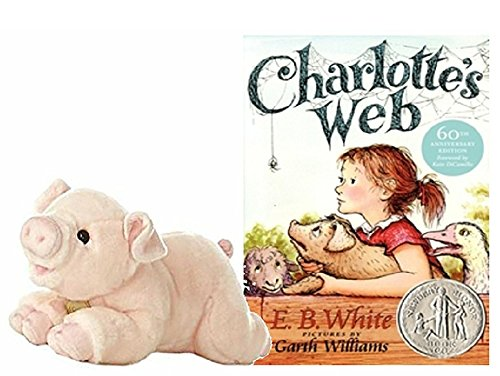 Charlotte's Web Hardcover Book Bundle with Pig Stuffed Animal by Aurora Miyoni Charlotte's Web Book Gift Set for (Charlotte Web Some Pig)