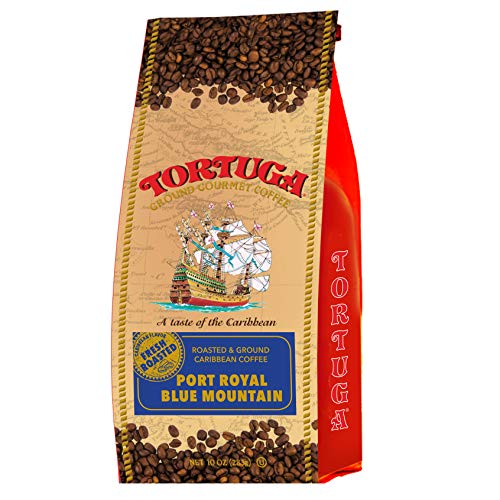 TORTUGA Caribbean Port Royal Blue Mountain Roasted Coffee Beans - 10oz - The Perfect Premium Gourmet Gift ()