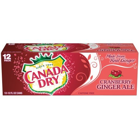 Canada Dry Cranberry Ginger Ale 12 oz can (pack of 12)