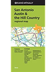 San Antonio Austin & the Hill Country Regional Map Rand McNally (Green Cover)