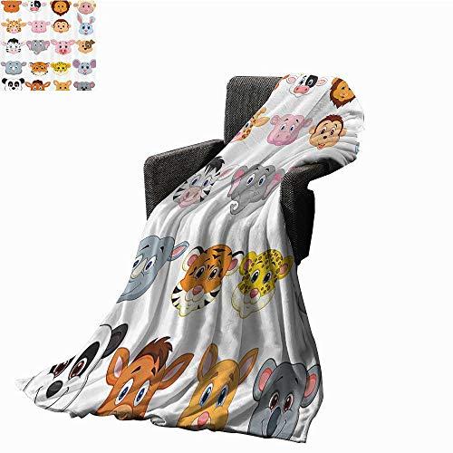 BlountDecor Cartoon Faux Fur Throw Blanket Kids Decoration