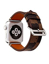 MeShow TCSHOW Compatible for Apple Watch Series 4,40mm Tartan Plaid Style Strap Wrist Band Watch Band with Silver Metal Adapter (Not fit for iWatch 44mm)