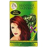 Hannah Natural 100-Percent Pure Henna Powder, 100 Gram