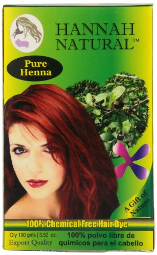 Hannah Natural 100% Pure Henna Powder, 100 Gram