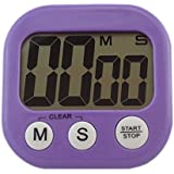Large Digital LCD Alarm Counter Clock Countdown Timer for Kitchen Cooking Baking, Purple by SYM TOP