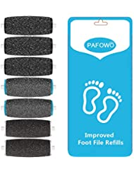 7 Pack Include 3 Extra Coarse & 2 Regular Coarse & 2 Soft Touch Replacement Roller Refill Heads Compatible With Amope Pedi Pefect Electronic Foot File