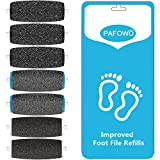 7 Pack Include 3 Extra Coarse & 2 Regular Coarse & 2 Soft Touch Replacement Roller Refill Heads Compatible With Pedi Pefect Electronic Foot File