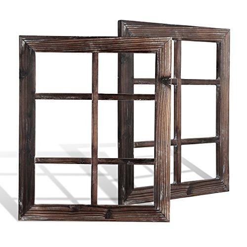 (DOCMON Rustic Wall Decor-Farmhouse Decor-Window Barnwood Frames -Home Decor for Home or Living Room, (2, 18.1X22.1X1))