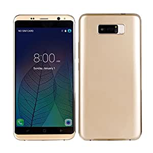 Gotd 5.5'' Smartphone 3G Android 5.1 MTK6580 Quad Core 1.3GHz 8GB Unlocked Cell Phone (Gold)