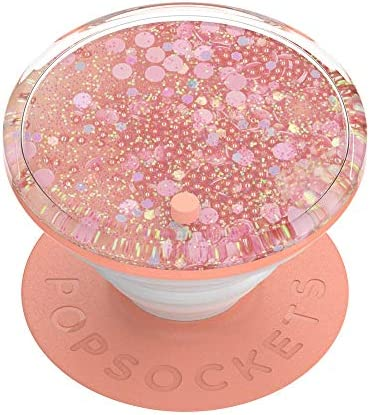 PopSockets: PopGrip with Swappable Top for Phones and Tablets - Tidepool Peachy Pink